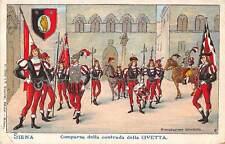 Comparsa Contrada Civetta Siena Italy 1905c postcard
