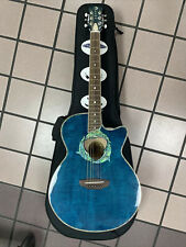 Luna Guitar Acoustic-Electric Guitar Grand Auditorium Model:FAU DPN