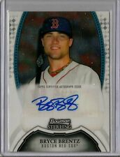 Boston Red Sox Bryce Brentz Signed 2011 Bowman Sterling Auto Card QTY.