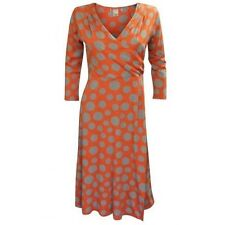 Boden V-Neck 3/4 Sleeve Spotted Dresses for Women