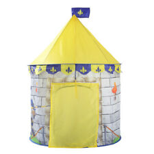 "Yellow Knight Themed Tent Kid Play Tent Indoor Outdoor Playhouse 39""L x 53""H"