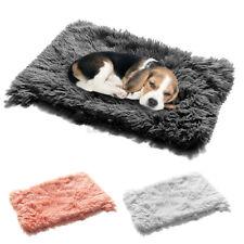 Dog Sleeping Mat Puppy Pet Plush Blanket Fluffy Blanket Winter Warm Polyester