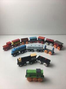 Mixed 13 Piece Lot Of Maison Joseph Battat Trains And Obrium Trains Magnetic