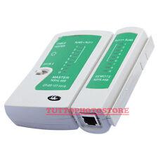 TESTER CAVI DI RETE LAN ETHERNET TELEFONO DIGITALE RJ45 RJ11 UTP LOCALE FTP CAVO