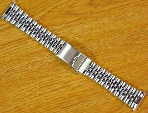 Jubilee Style Silve Tone 16mm-22mm Stainless Steel Metal Watch Bracelet Band-New