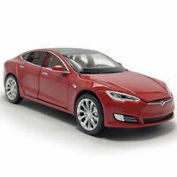1:32 Tesla Model S 100D Die Cast Modellauto Auto Spielzeug Rot Sammlung mit Ton