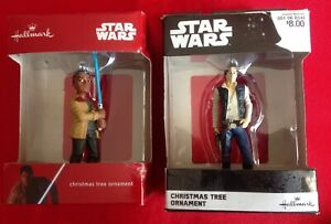 Hallmark Star Wars Han Solo w/blaster pistol, The Force Awakens FINN Ornaments