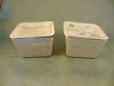 2 Antique aluminum 1 pint metal containers with lid Bernardin Speed Freeze USA