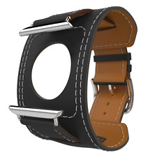 Apple Watch Band Series 1 Series 2, MoKo Genuine Leather Smart Watch Band Cuff S