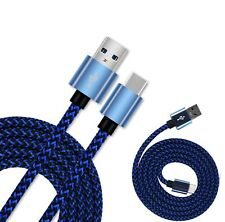 Blue Braided USB C 3.1 Sync Charging Cable For Samsung Galaxy S8+ S8 Note 8 7