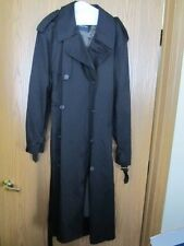 NAUTICA TRENCH - MEN'S COAT - ZIPPED IN LINING BLACK DRESS COAT - SIZE 44 T