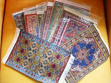 "Turkish Woven Miniature Dollhouse Carpets/Rugs-Lot of 1 Assorted - ~12"" x 8"""