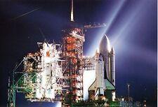 Carte Postale NASA - Navette sur le Pas de Tir, la Nuit - Space Shuttle Collect