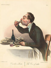 "Honore Daumier Reproductions: ""The Lover of Oysters"": Fine Art Print"