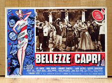 BELLEZZE A CAPRI fotobusta poster Ave Ninchi Lauro Gazzolo Ballo 1951 E11