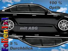 7,89€/qm 300 x 76 cm Auto Tönungsfolie tiefschwarz 95 % TÜV ABG Undercover Supol