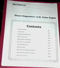 1987 FORD RANGER 2.3L TURBO DIESEL DIAGNOSTICS TROUBLESHOOTING MITSUBISHI