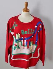 INSANE tacky Ugly Christmas Sweater Women 2XL xxl Men jumper Jingle Bells CS17