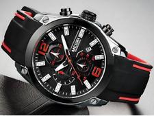 Megir Men's Chronograph Watch Sports Style Analog Quartz Silicone Rubber Watches