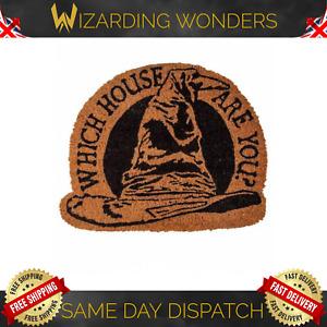 Harry Potter Sorting Hat Shaped Doormat Coir Rubber Back Door Mat Gift UK