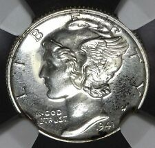 1941 U.S. Mercury Dime PROOF Silver 10 Cents Coin - Graded NGC PF 65 - RARE