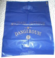 "MICHAEL JACKSON GRAND SAC PLASTIQUE ""DANGEROUS"" RARE BIG PLASTIC BAG"