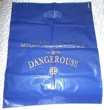 "MICHAEL JACKSON GRAND SAC PLASTIQUE ""DANGEROUS"" RARE BIG PLASTIC BAG"