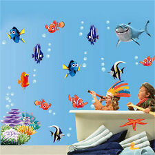 Cartoon Sea Fish Vinyl Removable Mural Wall Sticker Kids Room Bathroom Decor tK