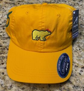 Jack Nicklaus Golden Bear Yellow Masters 6 Time Champion Ahead Hat NEW Augusta