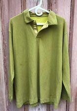 Patagonia Long Sleeve Snap closing polo shirt, light green, Men's size large