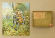 """VICTORY GOLD BOX Wooden Jigsaw 300pc """"TIGER HUNT"""" India Elephant Howdah_Whimsies"""