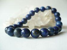 Bracelet élastique Lapis Lazuli perles 8 mm - bleu pierre fine gemme naturelle
