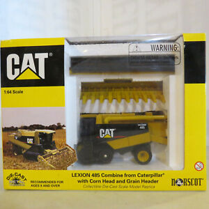 Norscot CAT Lexion 485 Combine 2 Heads 1/64 Scale 55028-B