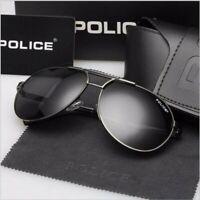 Police Men Polarized Retro Outdoor Aviator Sunglasses Glasses Eyewear+Box