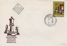 Chess Ajedrez FDC Bulgaria 1983