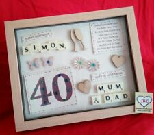 40th BIRTHDAY PERSONALISED GIFT FRAME PICTURE PHOTO KEEPSAKE PRESENT