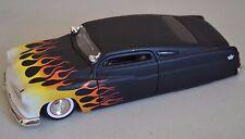 JADA TOYS 1/24 Black w Flames 1951 Mercury Chopped Diecast Car (SCRATCHES)