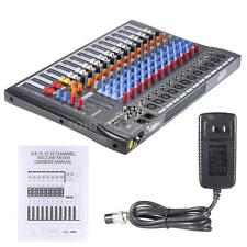 ammoon 12 Channels Mic Line Audio Mixer Mixing Console USB 3-band EQ D2H3