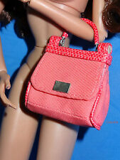 Fashion Royalty Jason Wu 1:6 Coral HANDBAG / PURSE for Poppy Dynamite Barbie
