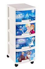 Curver Frozen 2 Tour de Rangement 4 tiroirs A4 10 L avec roulettes Bleu