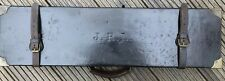 Vintage Leather Shotgun Motor Case - Leech & Sons of Chelmsford For Side-By-Side