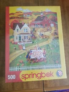 Springbok Quilting Bee's 500 piece jigsaw puzzle, Bob Pettes NEW SEALED