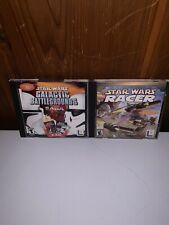 Star Wars Galactic Battlegrounds Saga + Star Wars Racer PC games