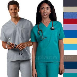 Cherokee Workwear Scrubs Shirts Unisex Men Women V-Neck Tunic Top 4777 Shirt