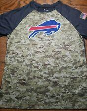 BUFFALO BILLS Camo/Camouflage SALUTE TO SERVICE shirt NFL Equip by Nike Dri Fit