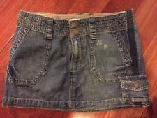 Mossimo Supply Co. Denim Jean Cargo Mini Skirt Size 1 Dark Wash Blue