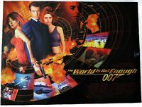 Original James Bond 007 The World Is Not Enough UK Quad D/S Kino Filmposter