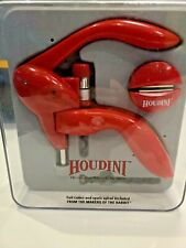 Houdini Lever Corkscrew with Foil Cutter and Extra Spiral (Red) - Open Box