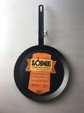 Lodge CRSGR11 Cast Iron Round Griddle Pre-seasoned 11-inch