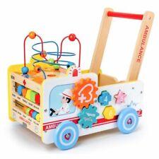 Baby Laufwagen Lauflernwagen Baby Walker Gehfrei Lauflernhilfe Steckspiel Holz .